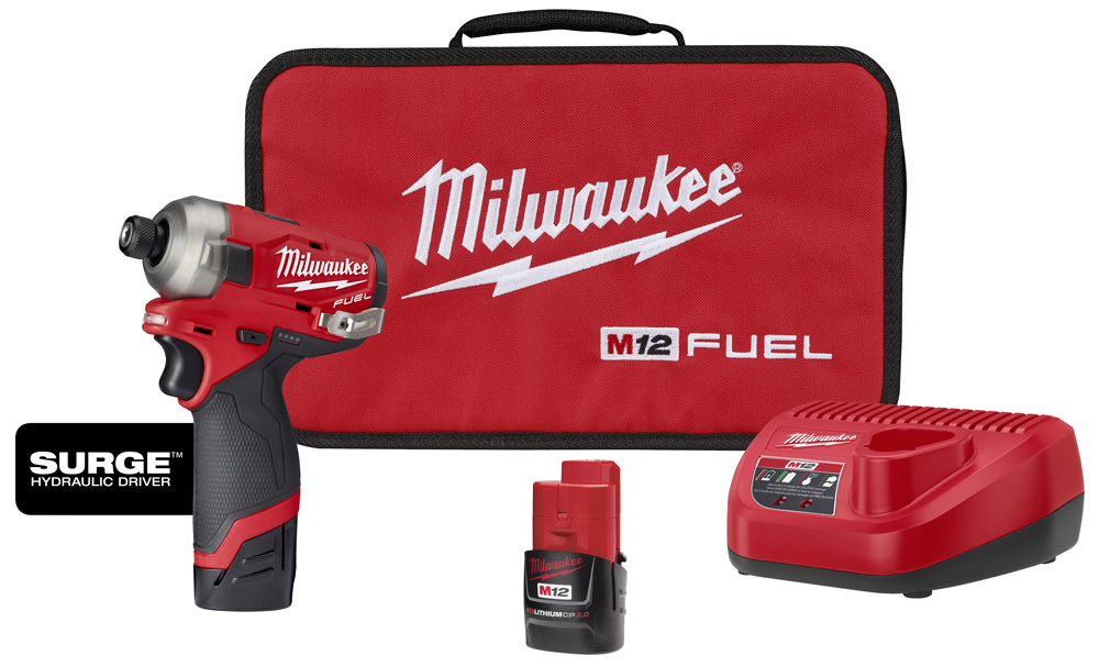 M12™ FUEL™ SURGE™ 1/4 in. Hex Hydraulic Driver 2 Battery Kit