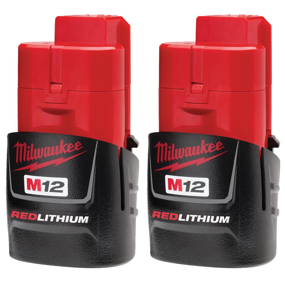 M12™ REDLITHIUM™ 1.5Ah Compact Battery Pack (2 Piece)