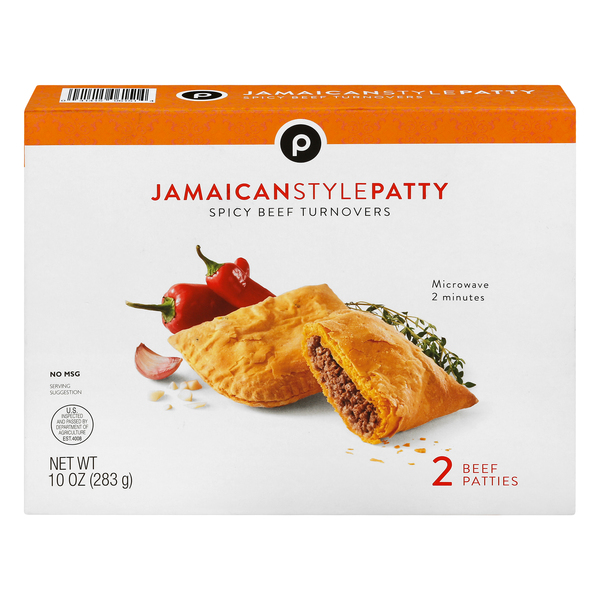 publix jamaican style patty spicy beef turnover 2 ea box